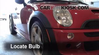 2004 Mini Cooper S 1.6L 4 Cyl. Supercharged Lights Highbeam (replace bulb)