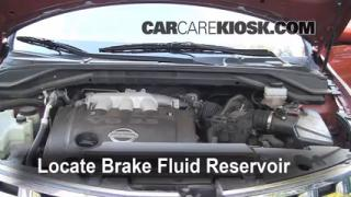 2004 Nissan Murano SL 3.5L V6 Brake Fluid Check Fluid Level