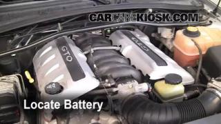 2004 Pontiac GTO 5.7L V8 Battery Replace