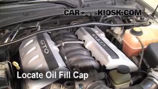 How to Add Oil Pontiac GTO (2004-2006)