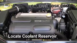 How to Add Coolant: Saab 9-3 (2003-2007)