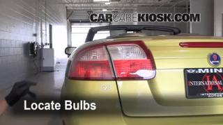 2004 Saab 9-3 Arc 2.0L 4 Cyl. Turbo Convertible (2 Door) Lights Tail Light (replace bulb)