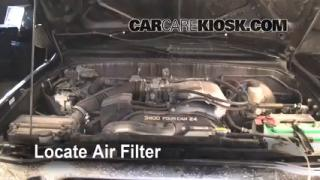 1995-2004 Toyota Tacoma Engine Air Filter Check