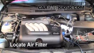 2004 Volkswagen Jetta GL 2.0L 4 Cyl. Sedan Air Filter (Engine) Replace