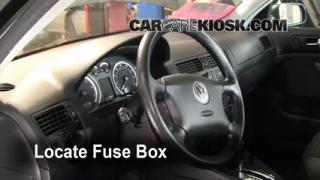 Interior Fuse Box Location: 1999-2005 Volkswagen Jetta