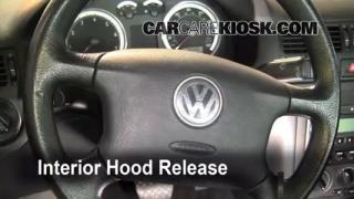 Open Hood How To 1999-2005 Volkswagen Jetta