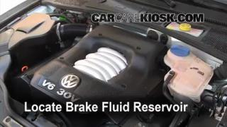 2004 Volkswagen Passat GLX 2.8L V6 Wagon Brake Fluid Check Fluid Level