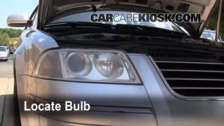 2004 Volkswagen Passat GLX 2.8L V6 Wagon Lights Highbeam (replace bulb)