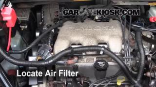 2005 Buick Rendezvous CX 3.4L V6 Air Filter (Engine) Check