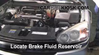 2004-2008 Chevrolet Malibu Brake Fluid Level Check