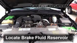 1999-2007 GMC Sierra 2500 HD Brake Fluid Level Check