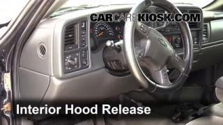 Open Hood How To 1999-2007 GMC Sierra 2500 HD