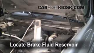 2002-2009 Chevrolet Trailblazer Brake Fluid Level Check