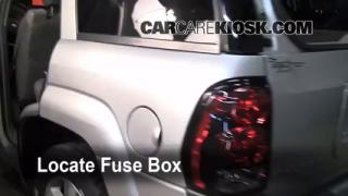 interior fuse box location 2002 2009 chevrolet trailblazer 2005 2002 2009 chevrolet trailblazer interior fuse check