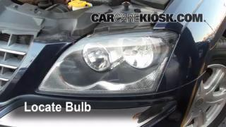 2005 Chrysler Pacifica Touring 3.5L V6 Lights Highbeam (replace bulb)