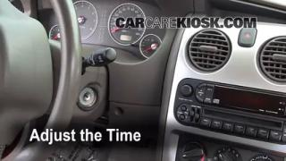 How to Set the Clock on a Chrysler Sebring (2001-2006)