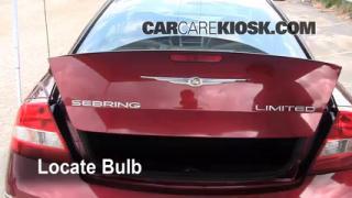 2005 Chrysler Sebring Limited 3.0L V6 Coupe Lights Center Brake Light (replace bulb)
