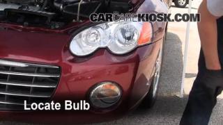 2005 Chrysler Sebring Limited 3.0L V6 Coupe Lights Turn Signal - Front (replace bulb)