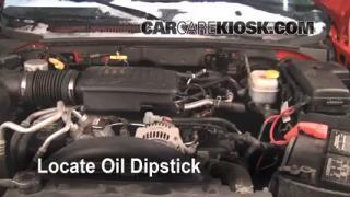 2005 Dodge Dakota SLT 4.7L V8 Crew Cab Pickup Oil Check Oil Level