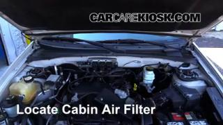 2005-2012 Ford Escape Cabin Air Filter Check