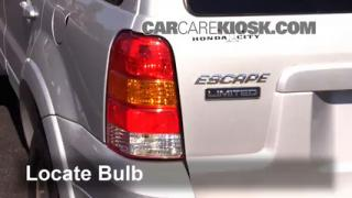 2005 Ford Escape Limited 3.0L V6 Lights Tail Light (replace bulb)