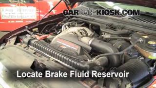 2005 Ford F-250 Super Duty XLT 6.0L V8 Turbo Diesel Crew Cab Pickup (4 Door) Brake Fluid Check Fluid Level
