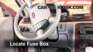 Interior Fuse Box Location: 2005-2007 Ford Five Hundred