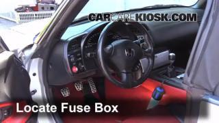 2000 2009 honda s2000 interior fuse check 2005 honda s2000 2 2l interior fuse box location 2000 2009 honda s2000
