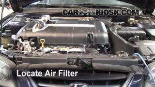 2001-2006 Hyundai Elantra Engine Air Filter Check