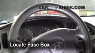 Interior Fuse Box Location: 2001-2006 Hyundai Elantra