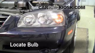 2005 Hyundai Elantra GLS 2.0L 4 Cyl. Sedan (4 Door) Lights Highbeam (replace bulb)