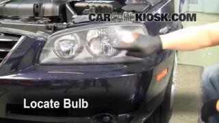 2005 Hyundai Elantra GLS 2.0L 4 Cyl. Sedan (4 Door) Lights Headlight (replace bulb)
