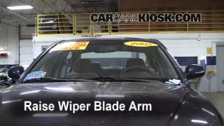 2005 Hyundai Elantra GLS 2.0L 4 Cyl. Sedan (4 Door) Windshield Wiper Blade (Front) Replace Wiper Blades