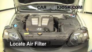 2003-2008 Hyundai Tiburon Engine Air Filter Check