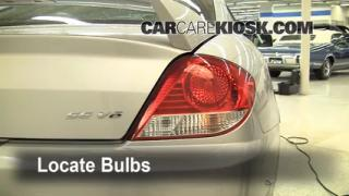 2005 Hyundai Tiburon GT 2.7L V6 Lights Tail Light (replace bulb)