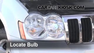 2005 Jeep Grand Cherokee Limited 5.7L V8 Lights Highbeam (replace bulb)