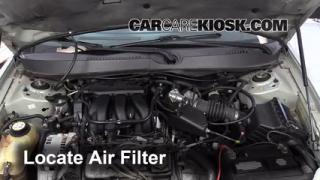 2005 Mercury Sable GS 3.0L V6 Sedan Air Filter (Engine) Replace