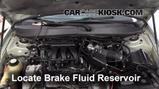 2005 Mercury Sable GS 3.0L V6 Sedan Brake Fluid Check Fluid Level