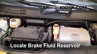 2004-2009 Toyota Prius Brake Fluid Level Check