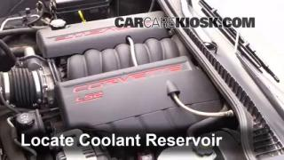 Coolant Level Check: 2005-2013 Corvette
