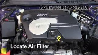 2006-2007 Chevrolet Monte Carlo Engine Air Filter Check