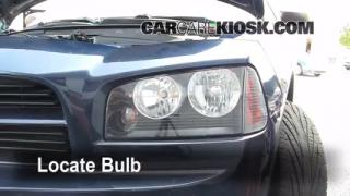 2006 Dodge Charger SXT 3.5L V6 Lights Highbeam (replace bulb)