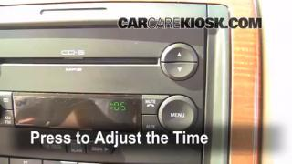 How to Set the Clock on a Ford Explorer (2006-2010)