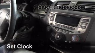 How to Set the Clock on a Honda Accord (2003-2007)