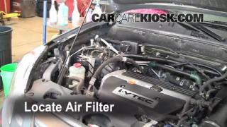 2006 Honda CR-V SE 2.4L 4 Cyl. Air Filter (Engine) Replace