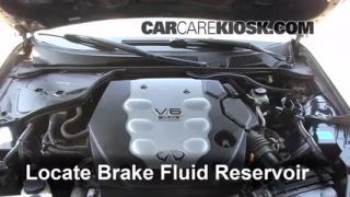 2006 Infiniti G35 X 3.5L V6 Brake Fluid Check Fluid Level
