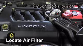2006 Lincoln Zephyr 3.0L V6 Air Filter (Engine) Check