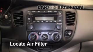 2000-2006 Mazda MPV Cabin Air Filter Check