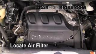 2006 Mazda MPV LX 3.0L V6 Air Filter (Engine) Check