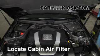 Interior fuse box location 2003 2009 mercedes benz clk350 for Mercedes benz e350 cabin air filter